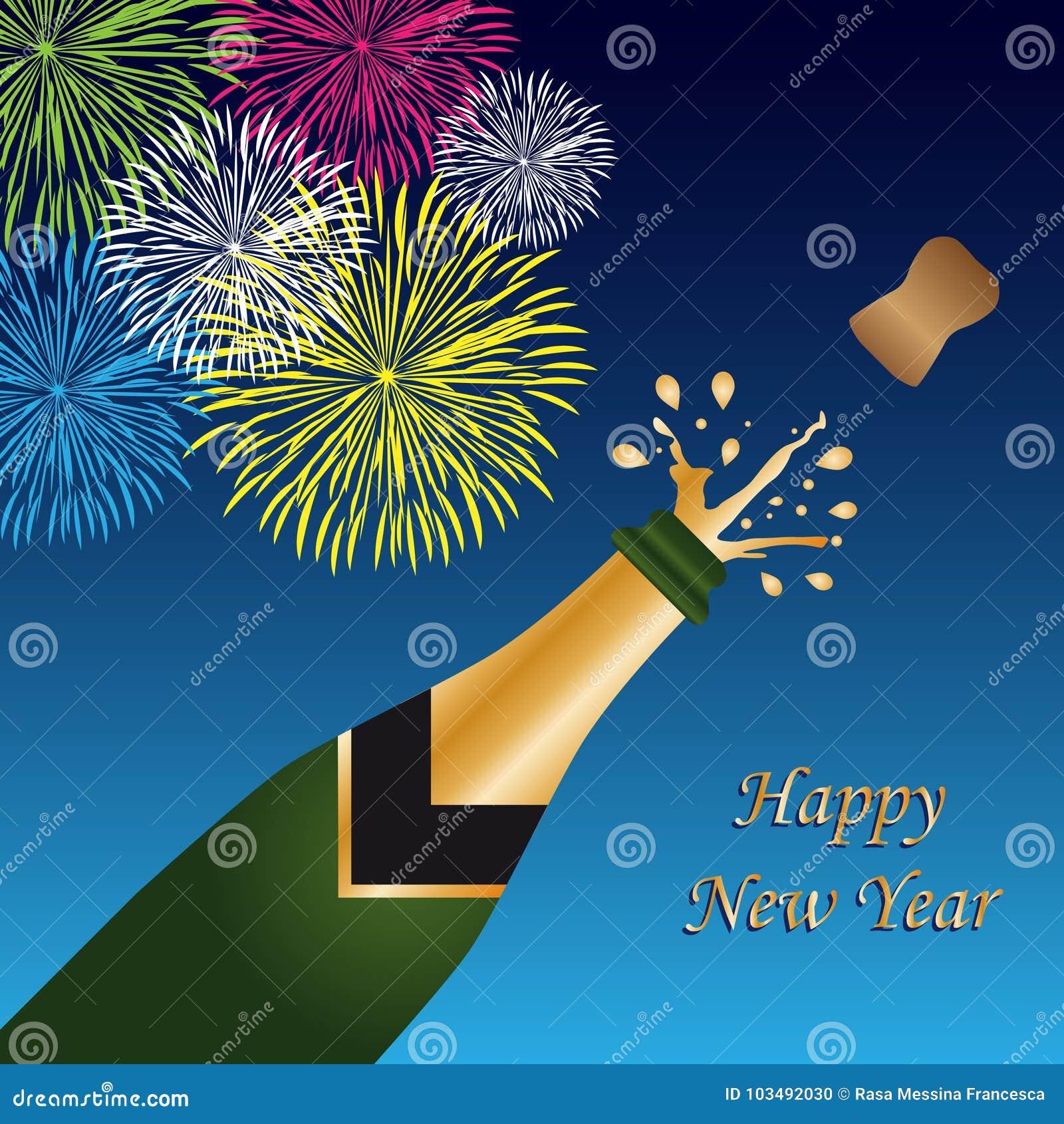 Szczęśliwego nowego roku tło