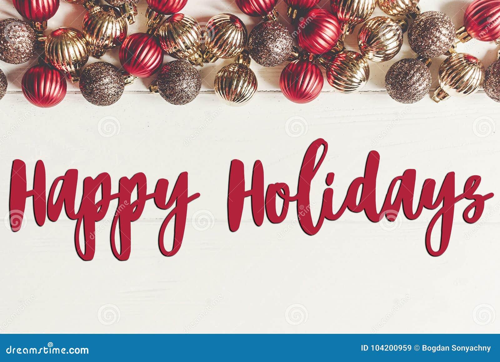 Szczęśliwi wakacje teksty, sezonowy powitanie karty znak bożego narodzenia fla