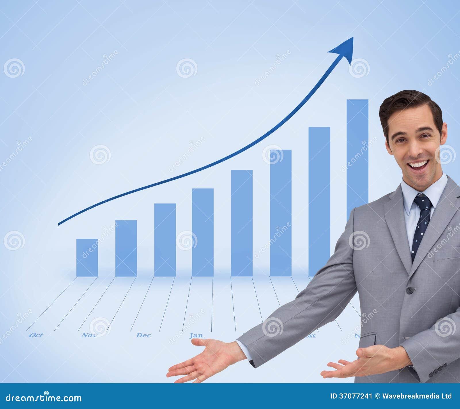 Download Szczęśliwy Biznesmen Daje Prezentaci Z Jego Rękom Obraz Stock - Obraz złożonej z biznesmen, ubierający: 37077241