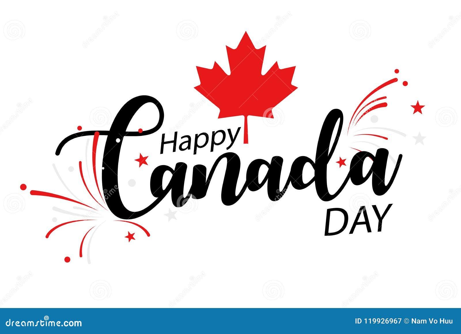 Szczęśliwy Canada dzień