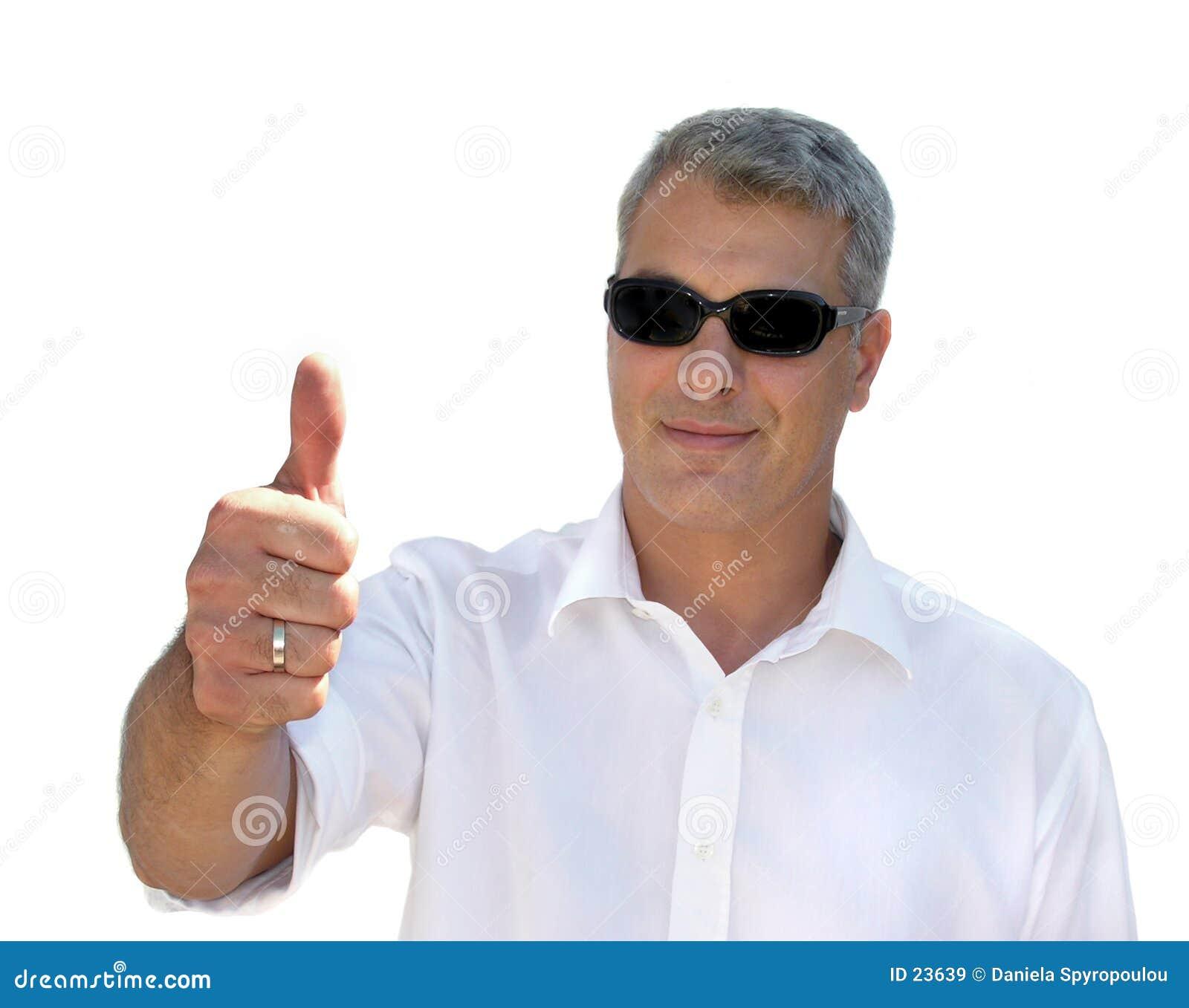 Download Szczęśliwy człowiek obraz stock. Obraz złożonej z portret - 23639