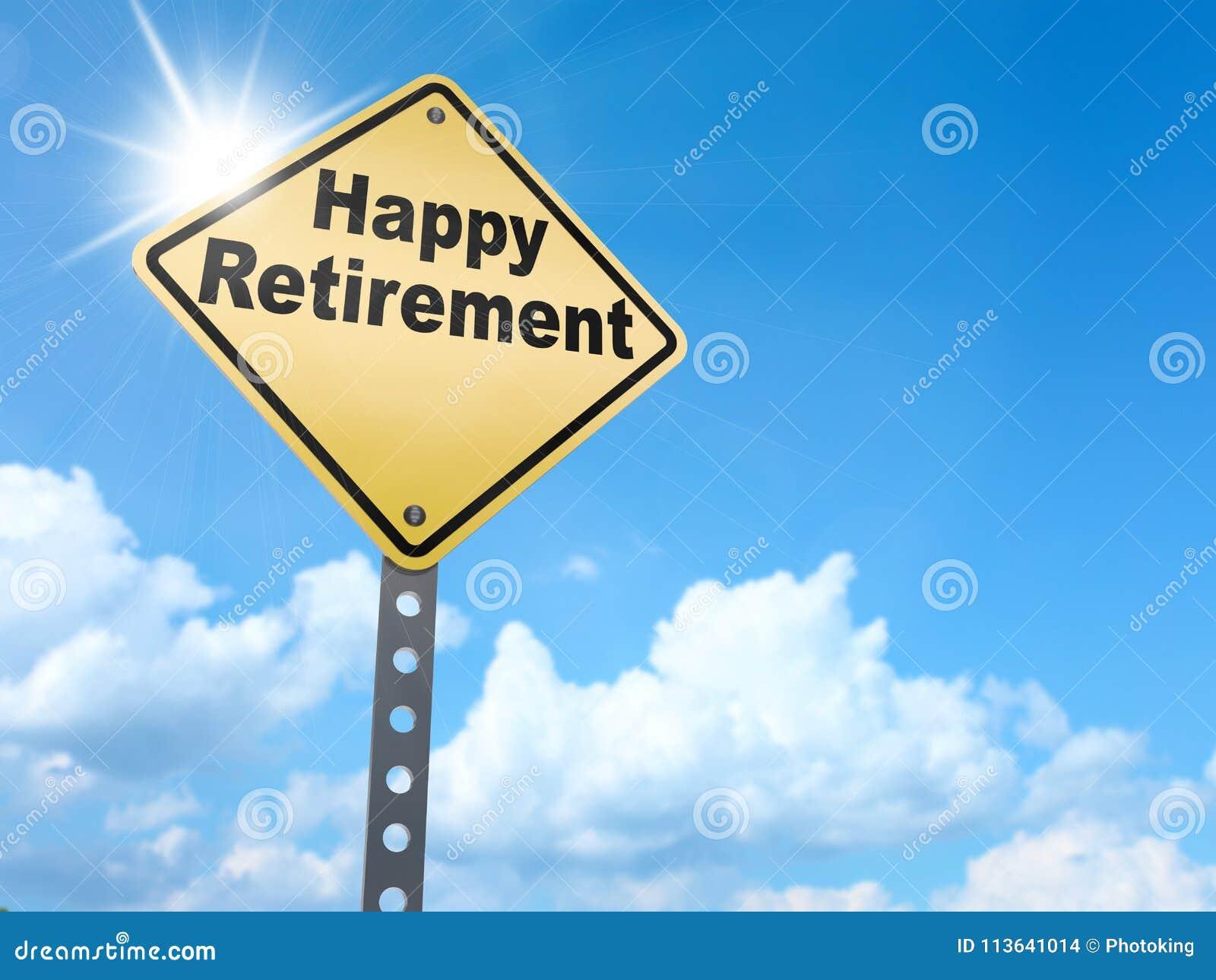 Szczęśliwy emerytura znak