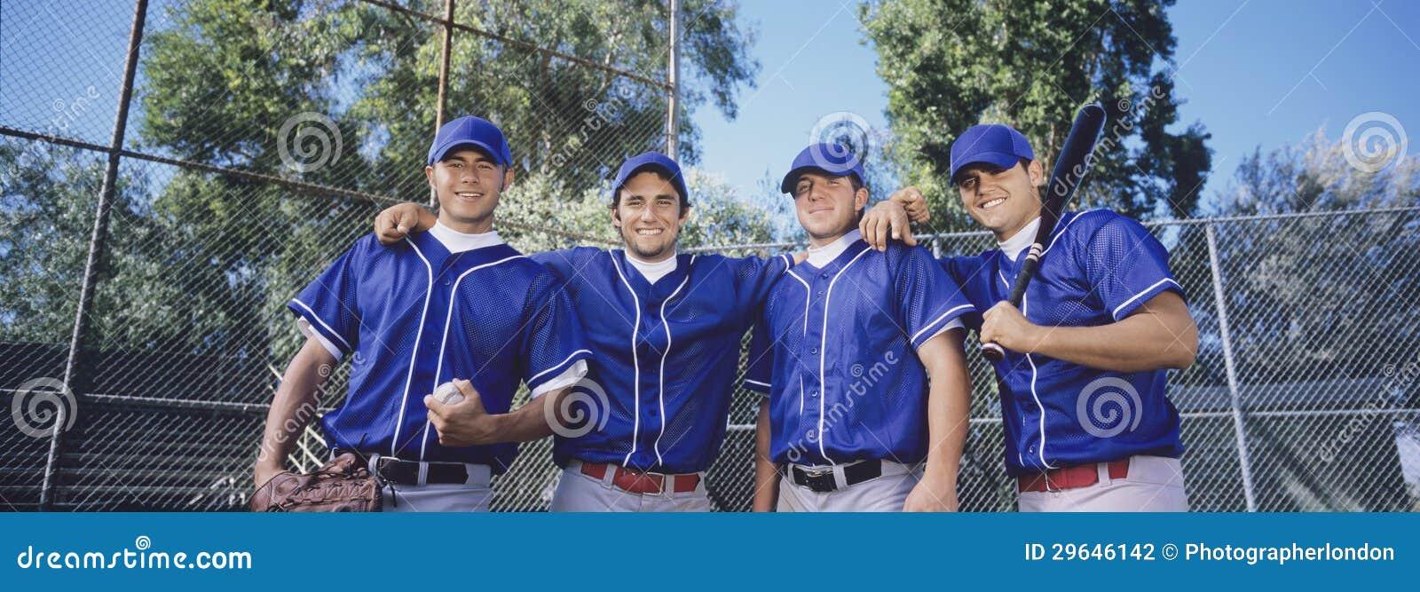 Szczęśliwy gracz baseballa