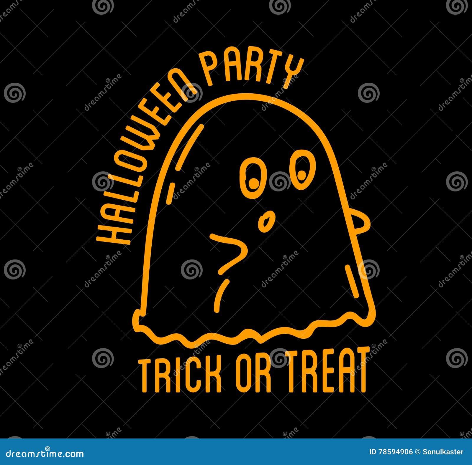 Szczęśliwy Halloween projekt Czarny labelt z tekstem inside i odznaka