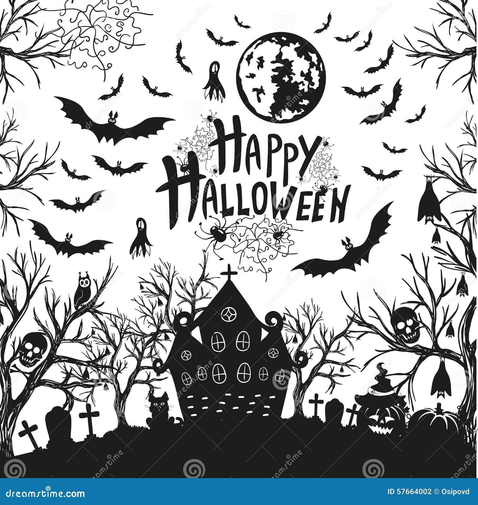Szczęśliwy Halloween znak, ikony dla Halloween i