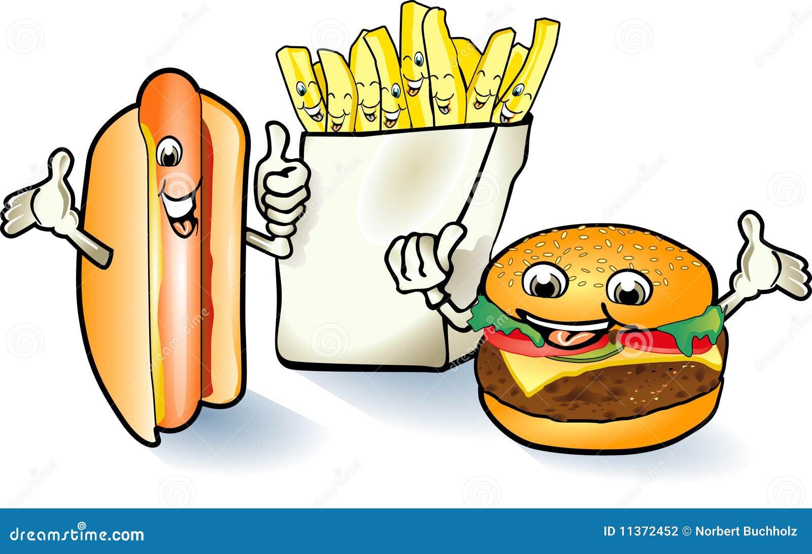 Szczęśliwy hamburgeru hotdog