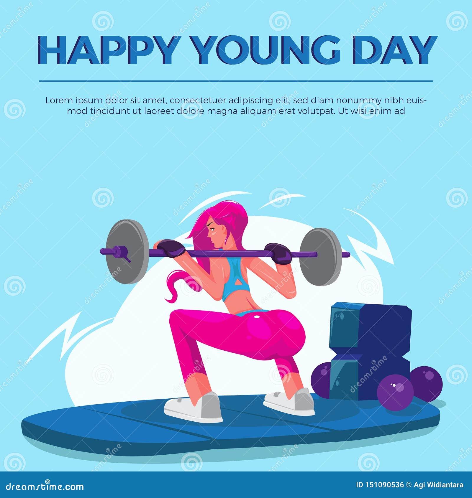 Szczęśliwy Młody dzień kobiet gym