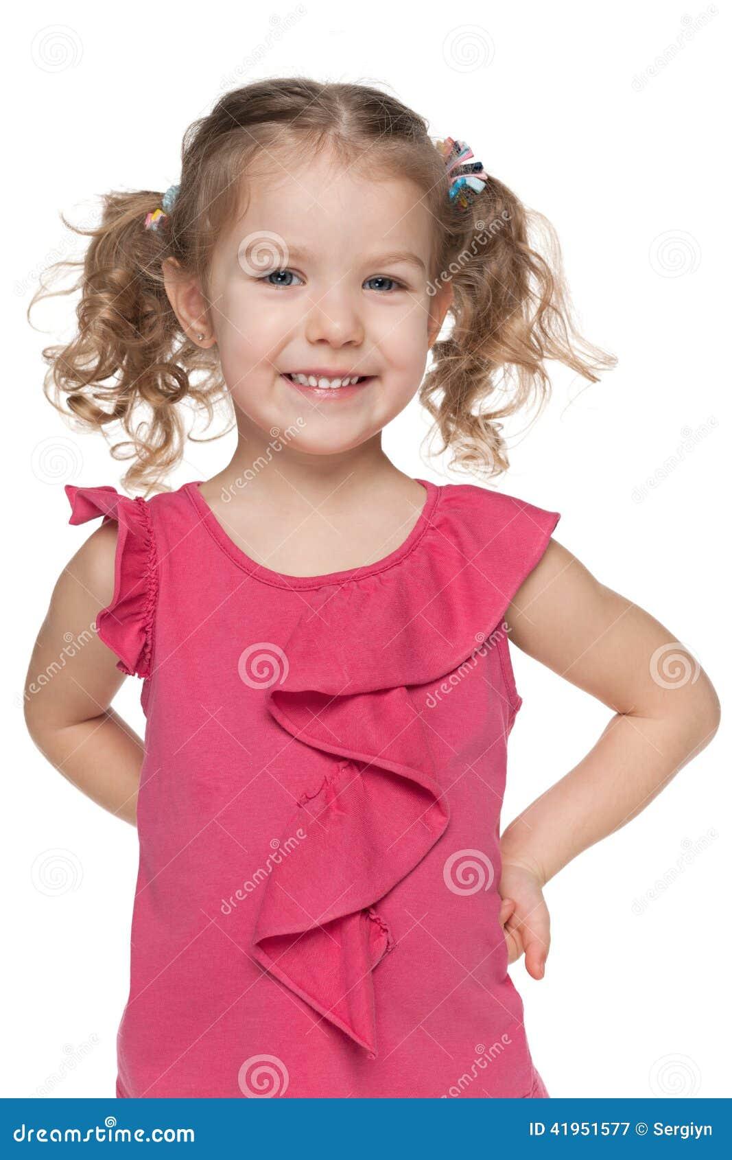 Szczęśliwy mały dziewczyny