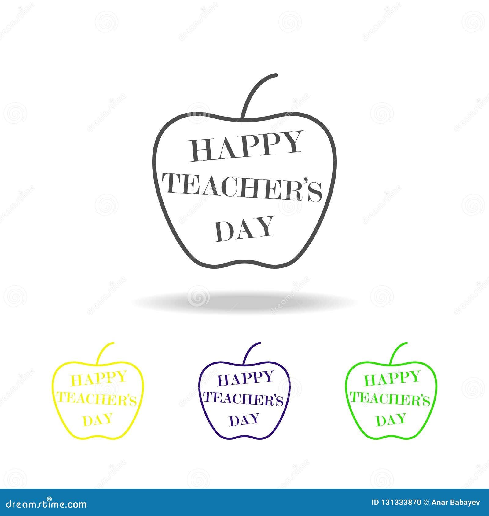 Szczęśliwy nauczyciel, s dzień   Edukacja symbolu znaka piktogram może używać dla sieci, logo, mobilny app, UI, UX