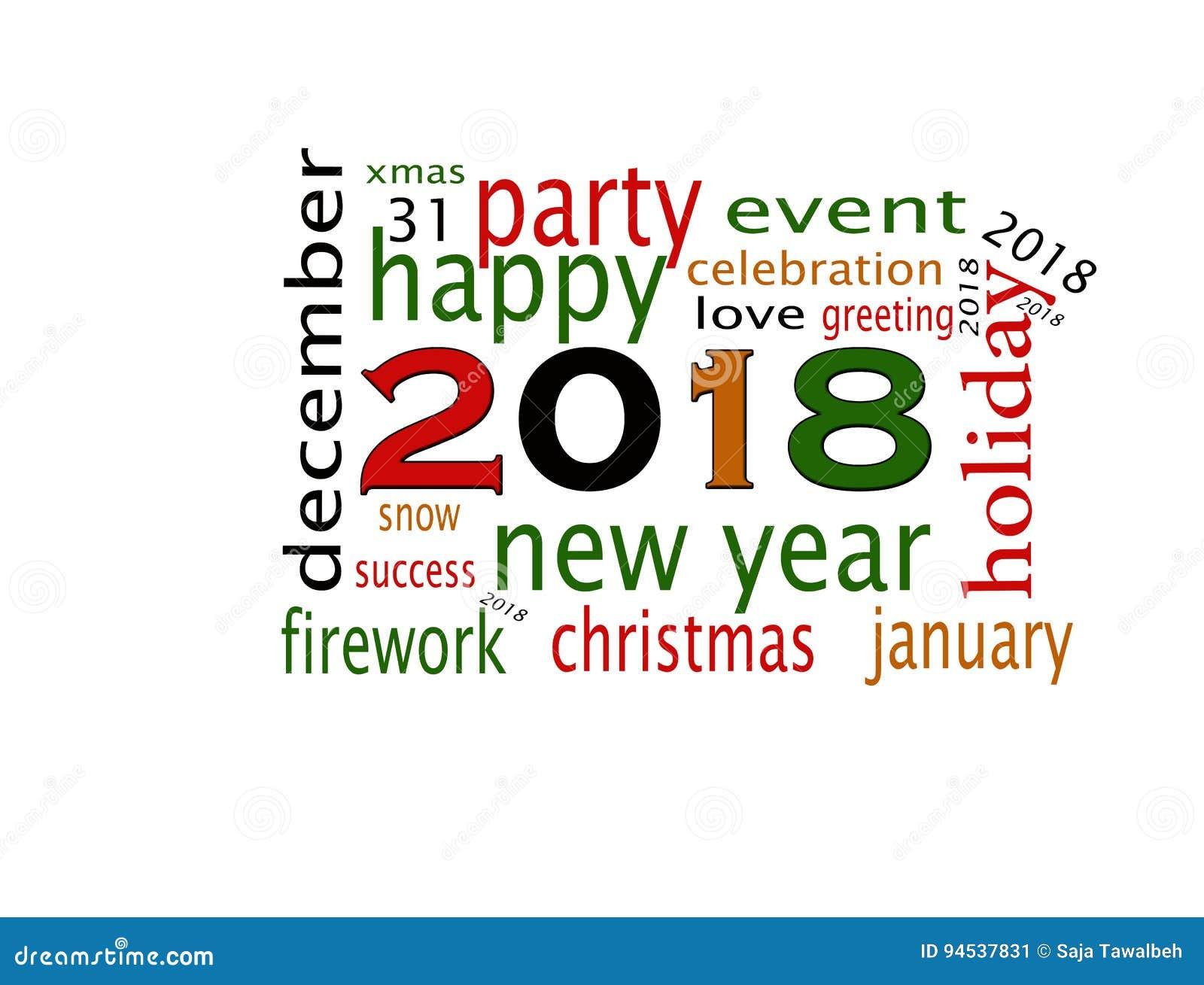 Szczęśliwy nowego roku 2018 kartka z pozdrowieniami