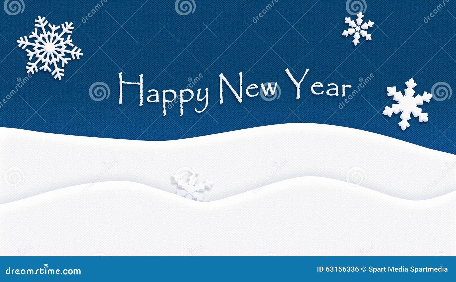Szczęśliwy nowego roku tła tekstury płatek śniegu