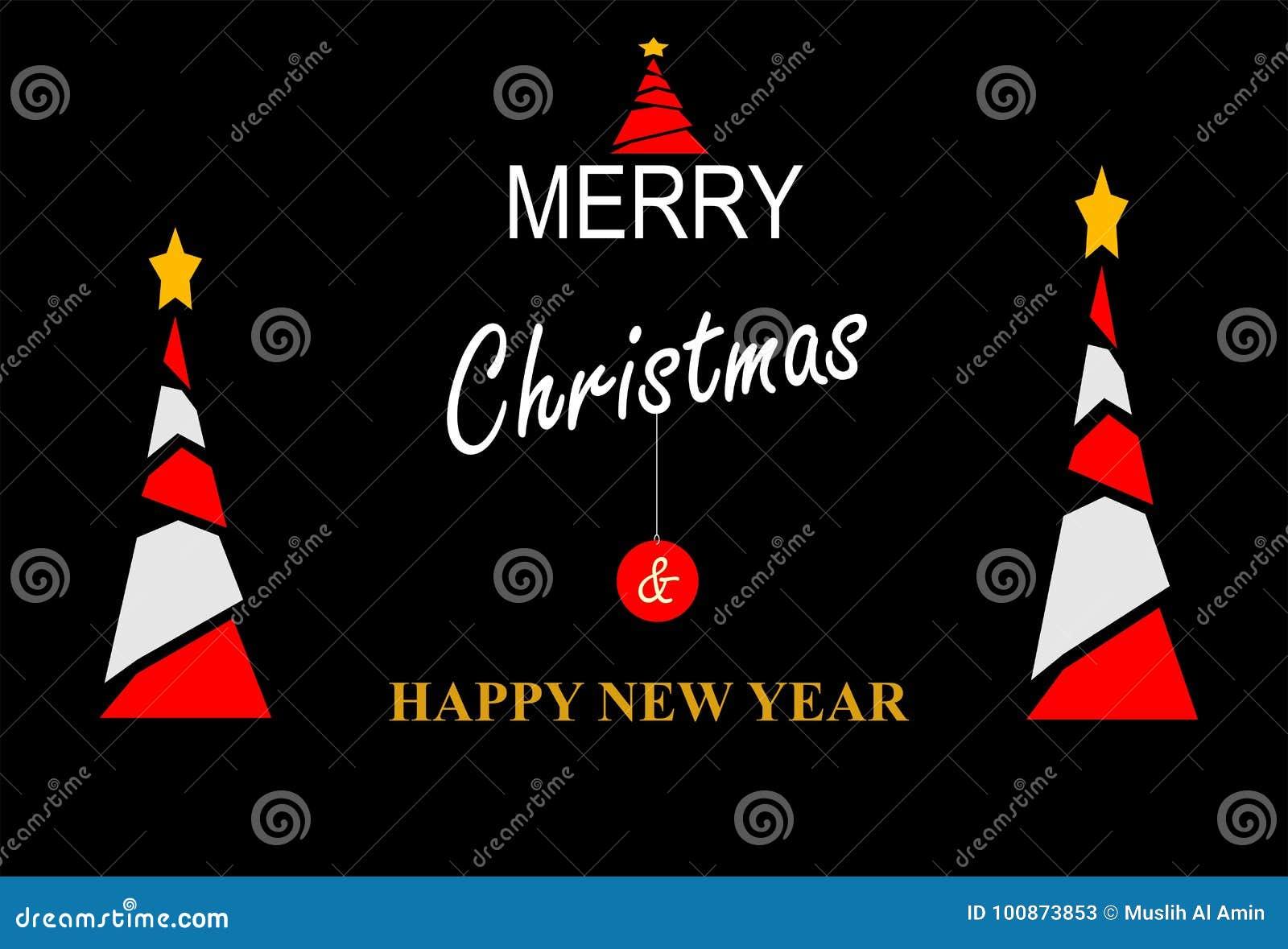 Szczęśliwy nowy rok & kartka bożonarodzeniowa