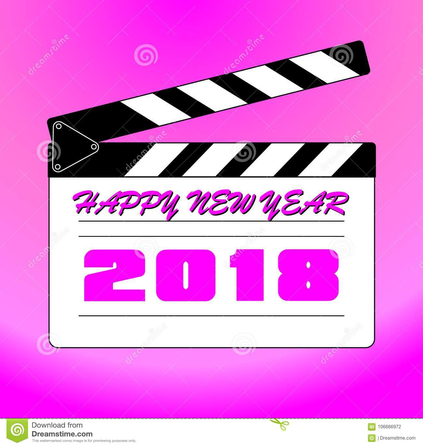Szczęśliwy nowy rok 2018 z tłem