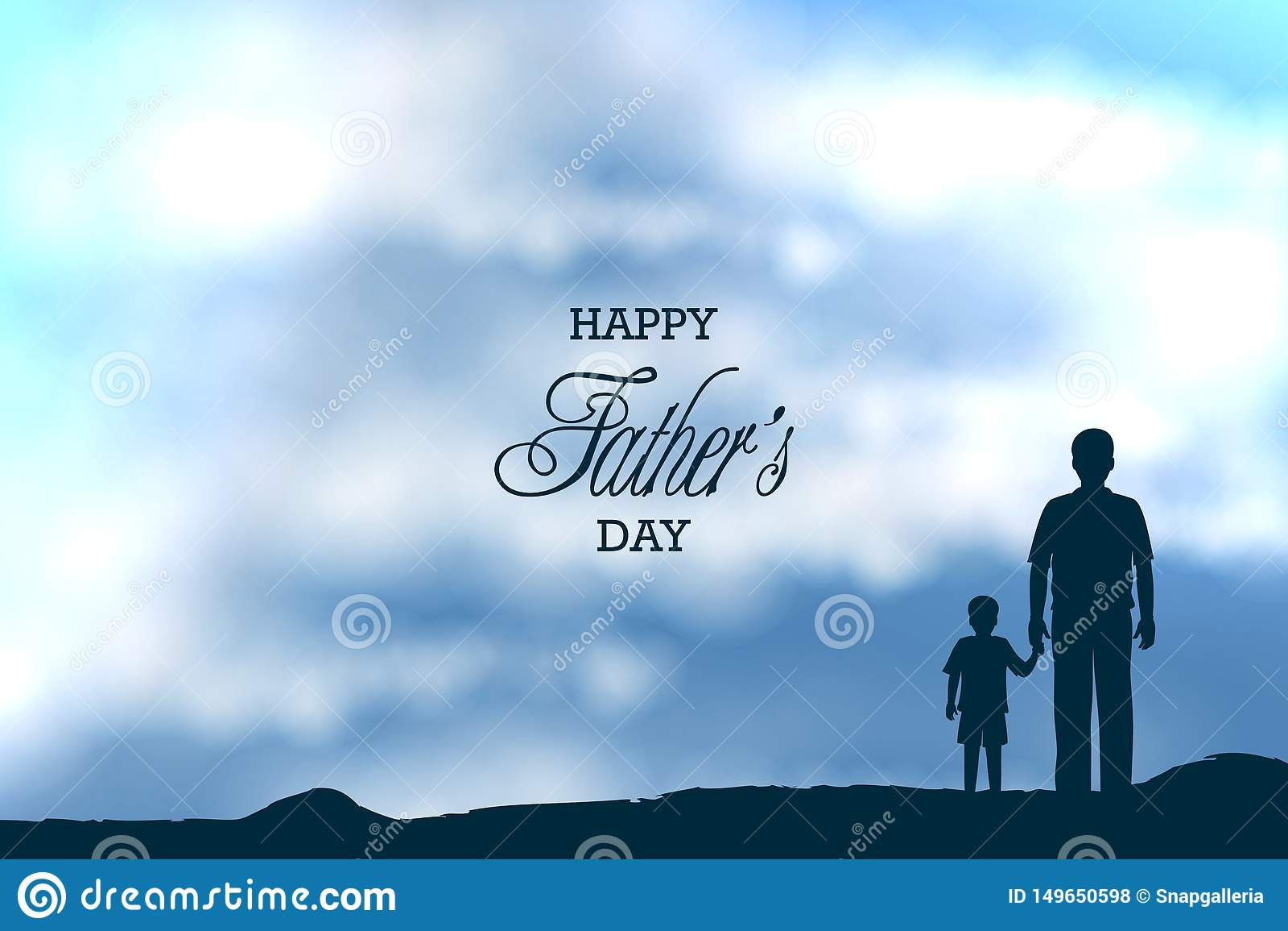 Szczęśliwy ojca dnia tło pokazuje więź uczuciową i związek między dzieciakiem i ojcem