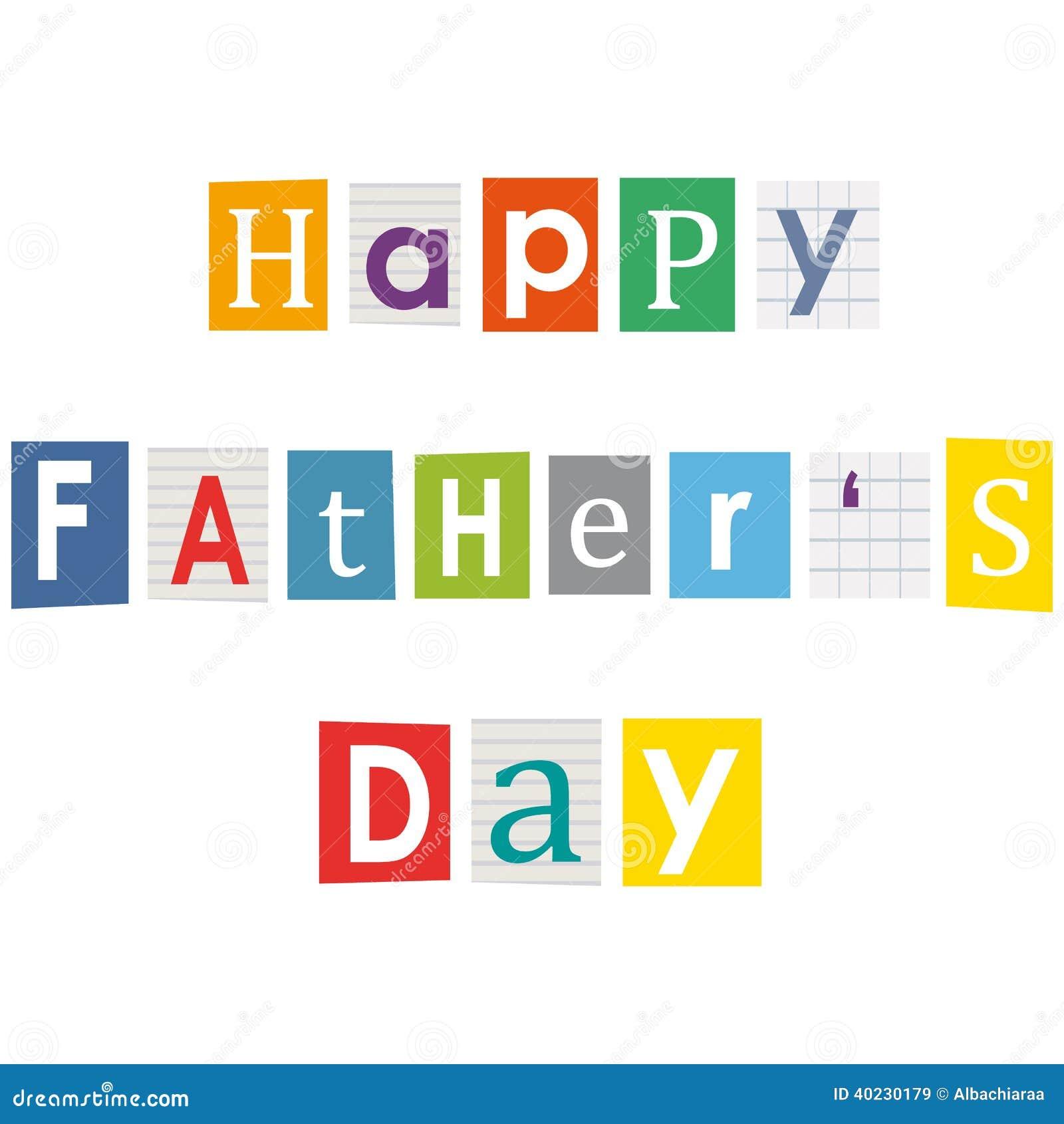 Szczęśliwy ojca dzień.