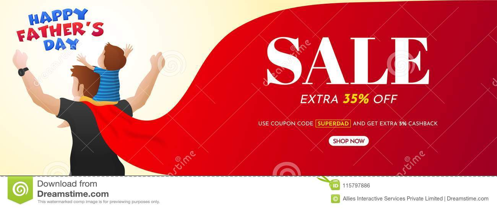 Szczęśliwy ojca ` s dzień, sprzedaż sztandaru projekt z 35  Z ofert i h,