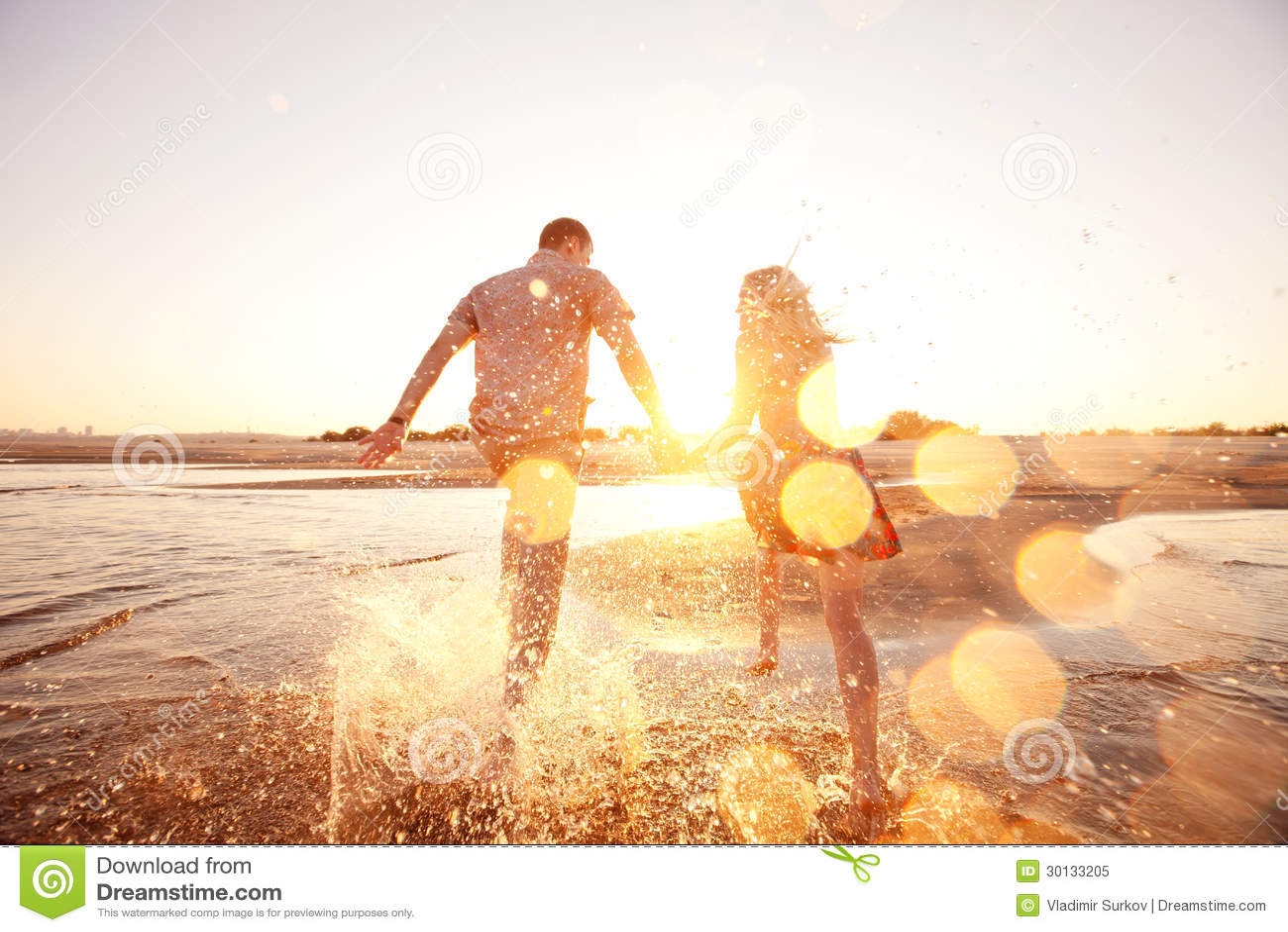 Para bieg na plaży