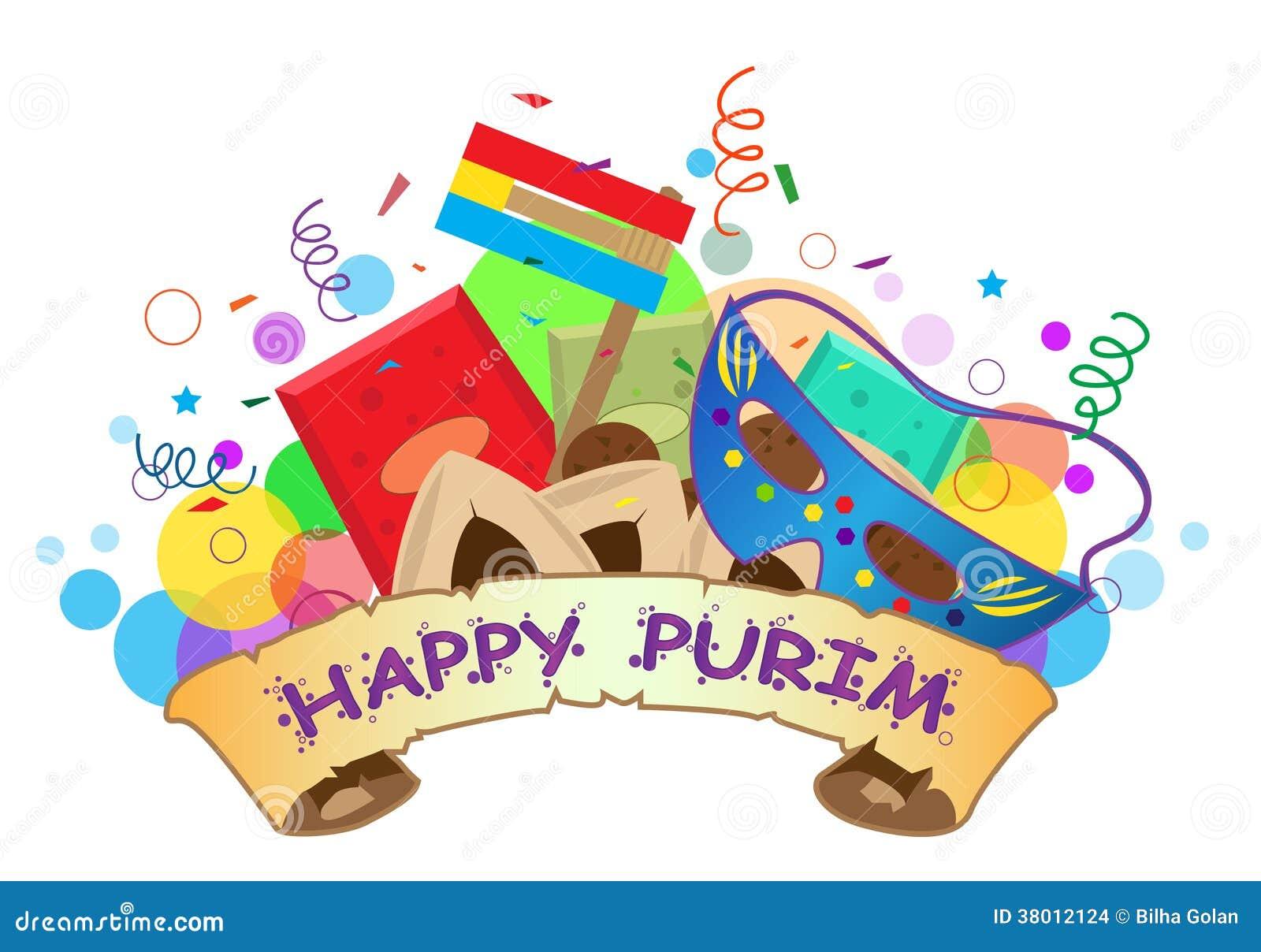 Szczęśliwy Purim sztandar