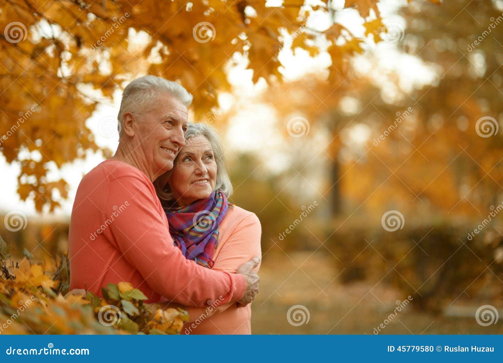 Szczęśliwy stare pary