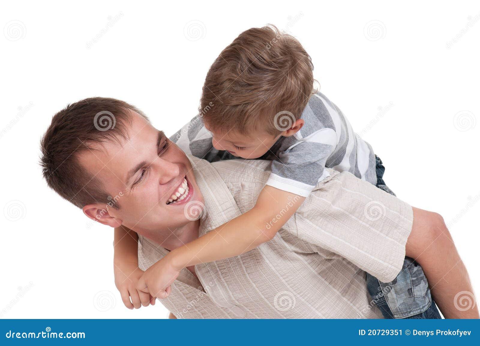 Szczęśliwy tata syn