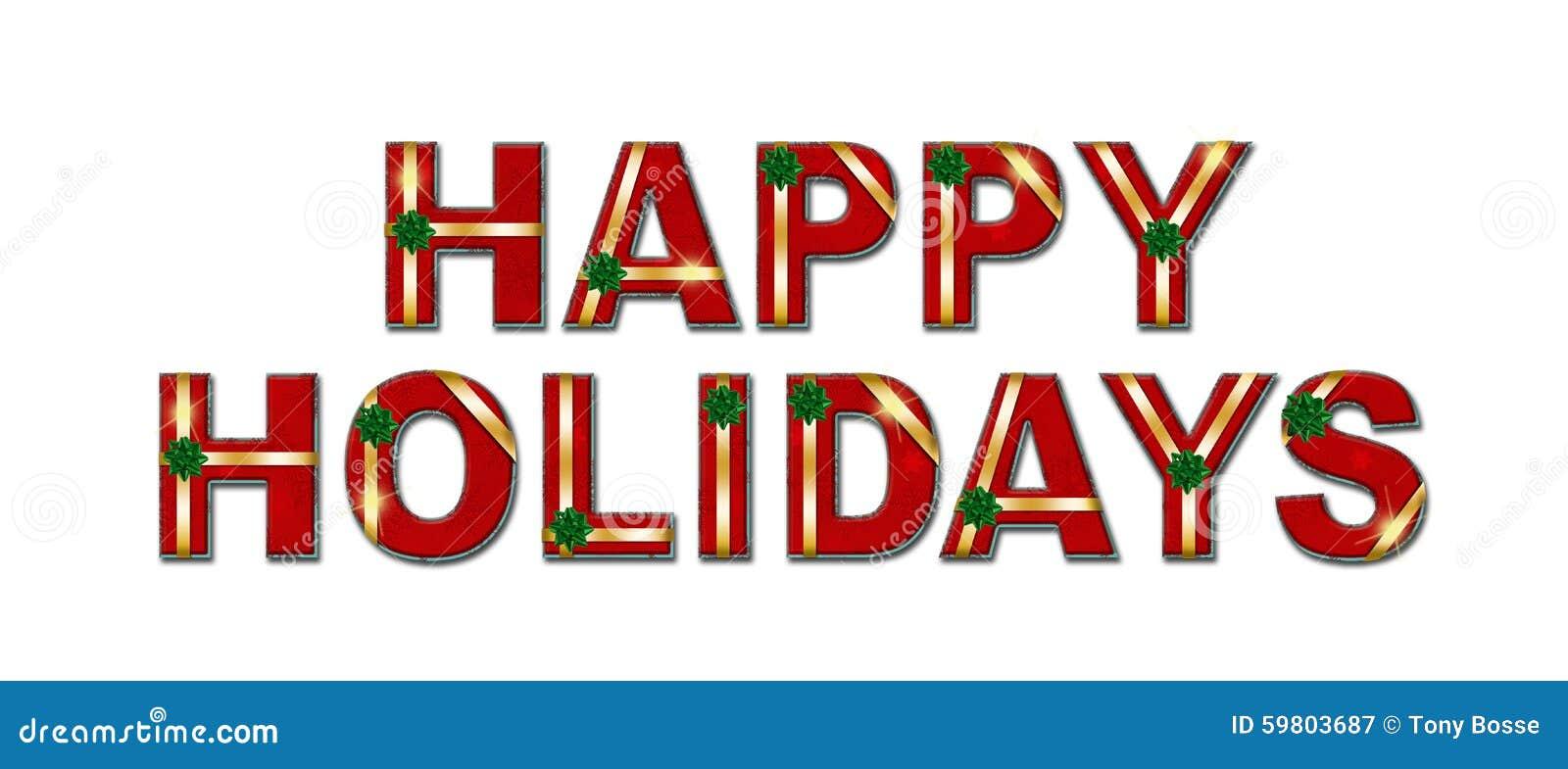 Szczęśliwy wakacje prezenta teksta tło