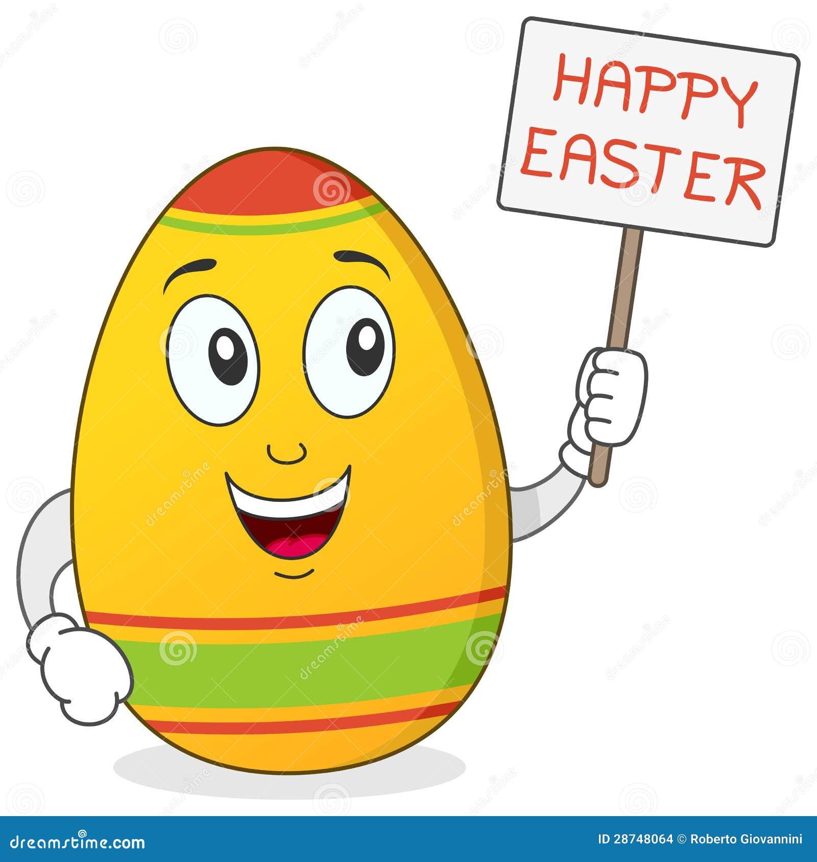Szczęśliwy Wielkanocnego jajka charakter