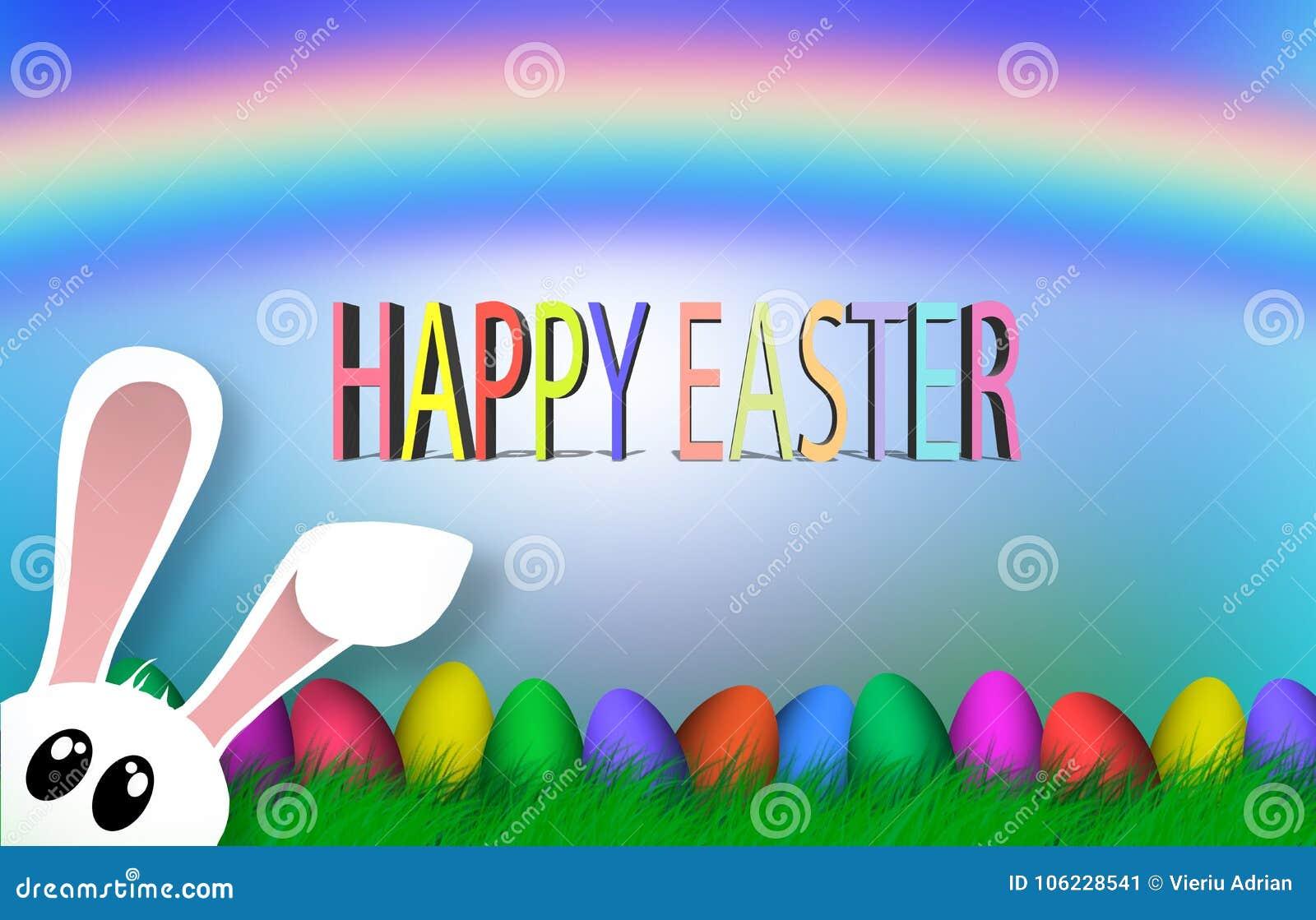 Szczęśliwy Wielkanocny Kolorowy jajko religii tła wakacje