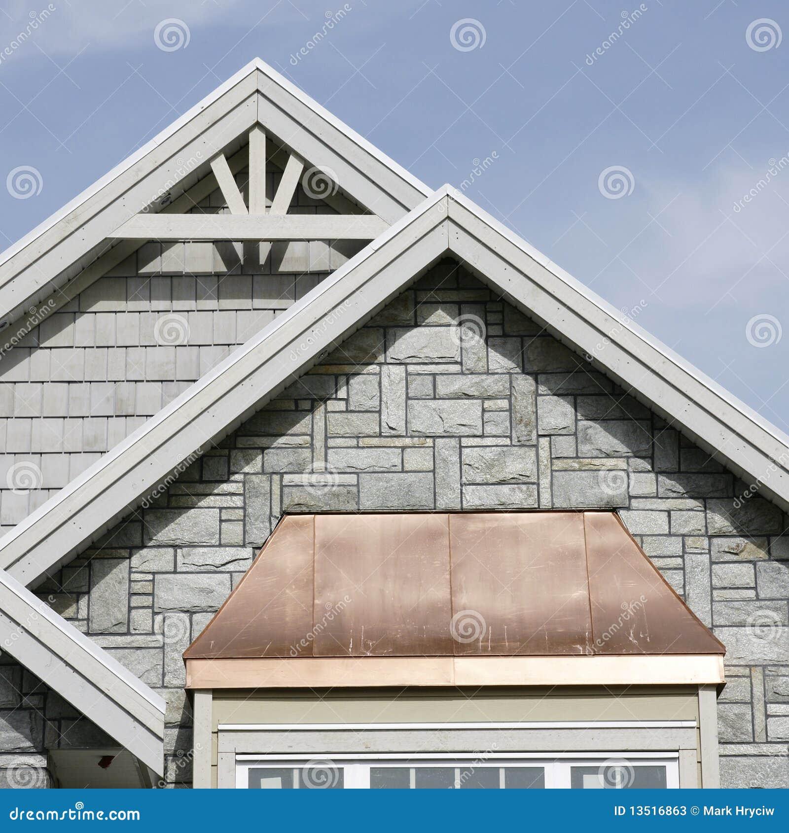 Szczegółów zewnętrzny domu dach