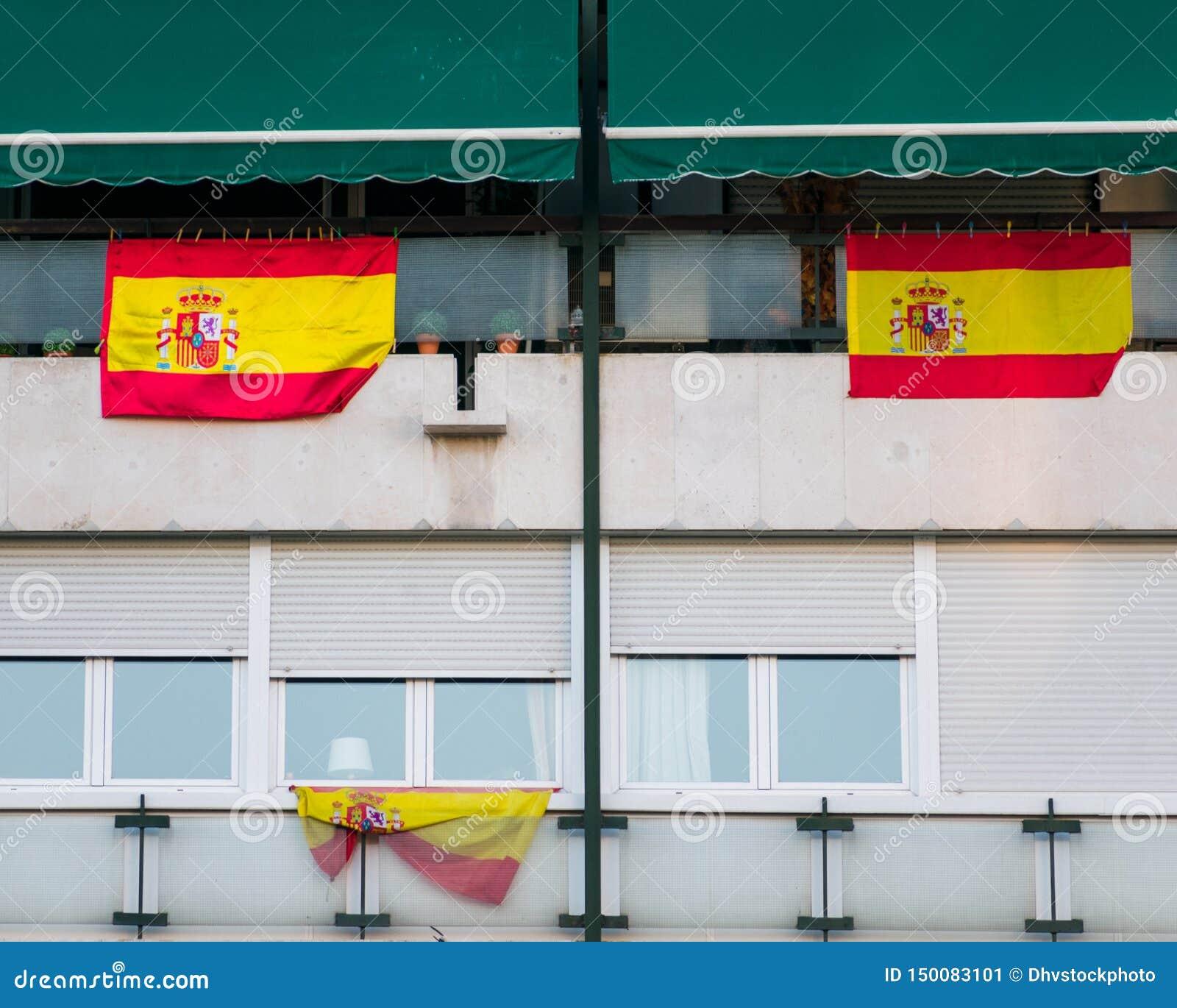 Szczegół Fasadowa budynek klasa robocza Madryt, Hiszpania