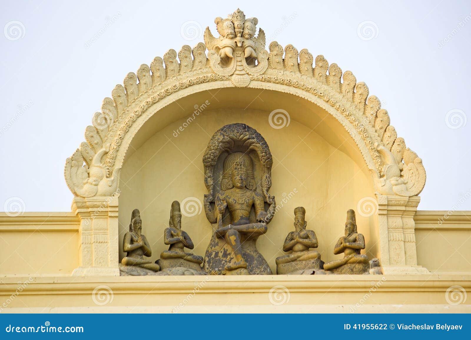 Szczegół Hinduska świątynia w Kanyakumari