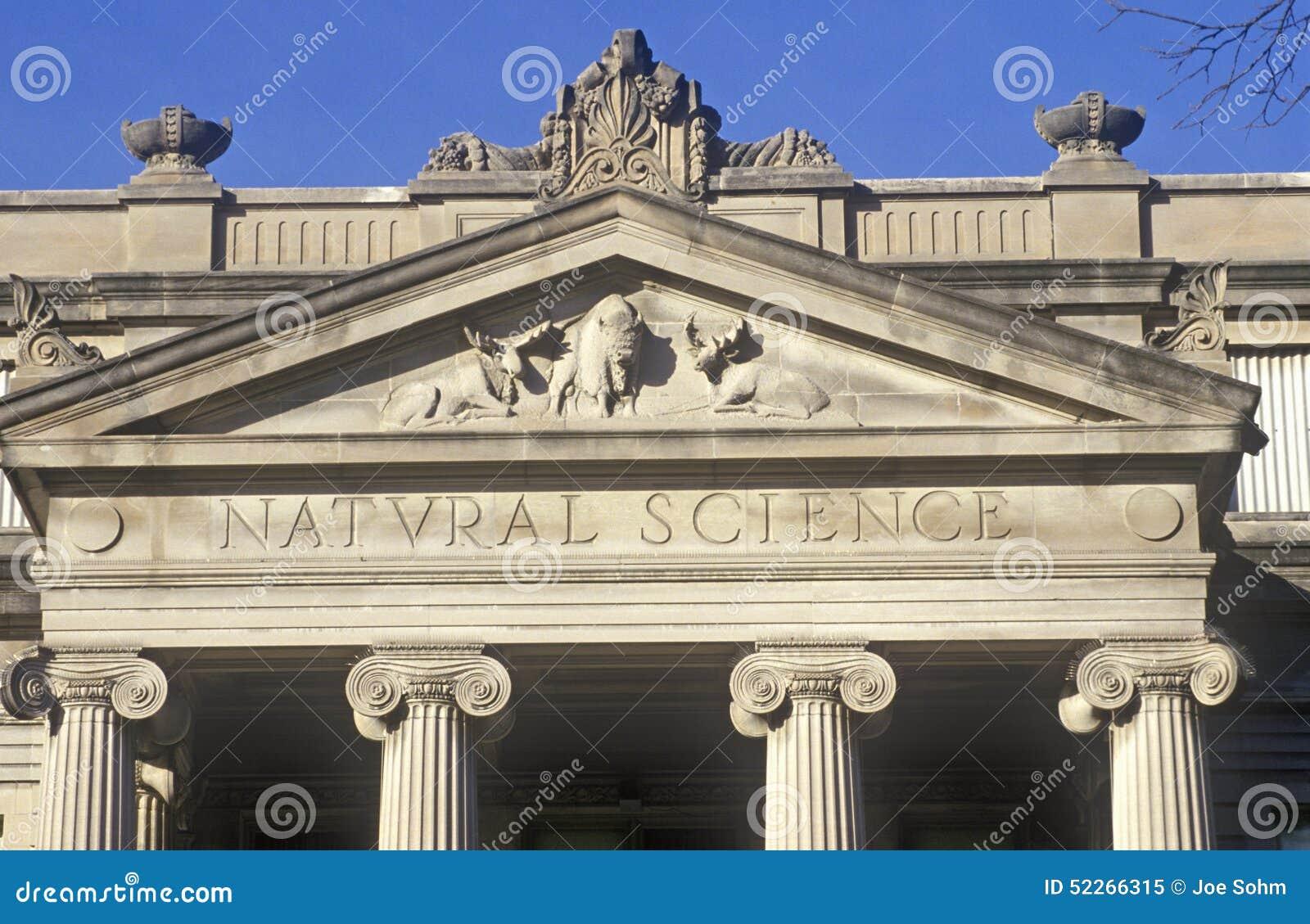 Szczegół Naturalnej nauki budynek przy uniwersytetem Iowa, Iowa miasto, Iowa