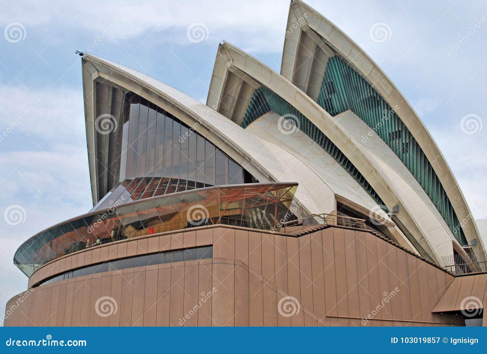 Szczegół - Sydney opera Sydney opera jest wśród ruchliwie przedstawień centrów w świacie