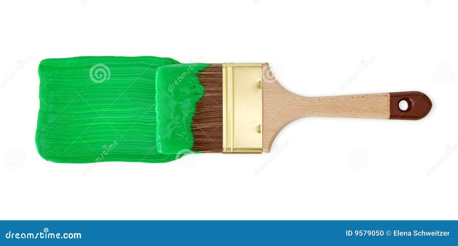 Szczotkarska zielona farba