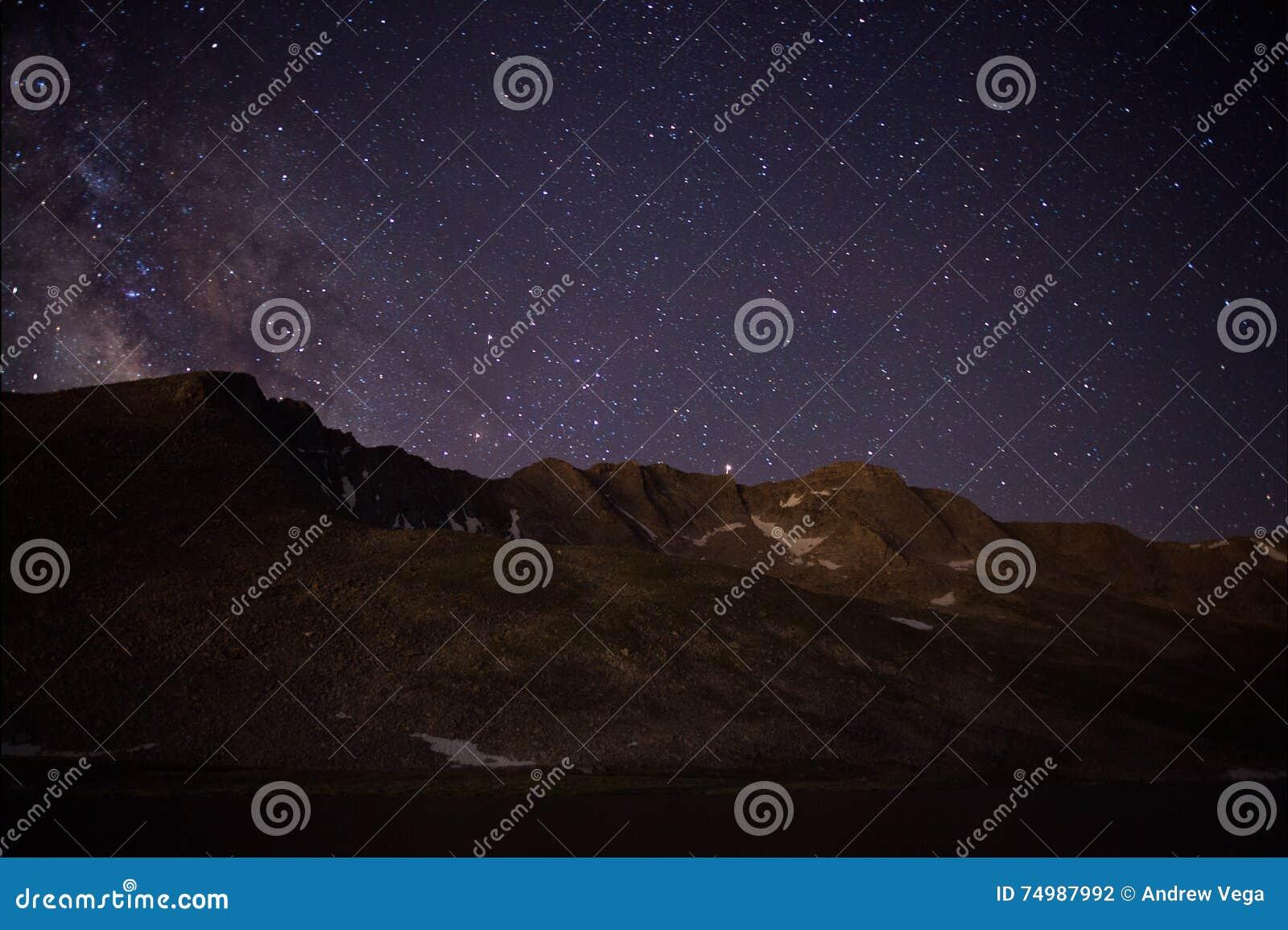 Szczyt jezioro na Mt wyparowywa
