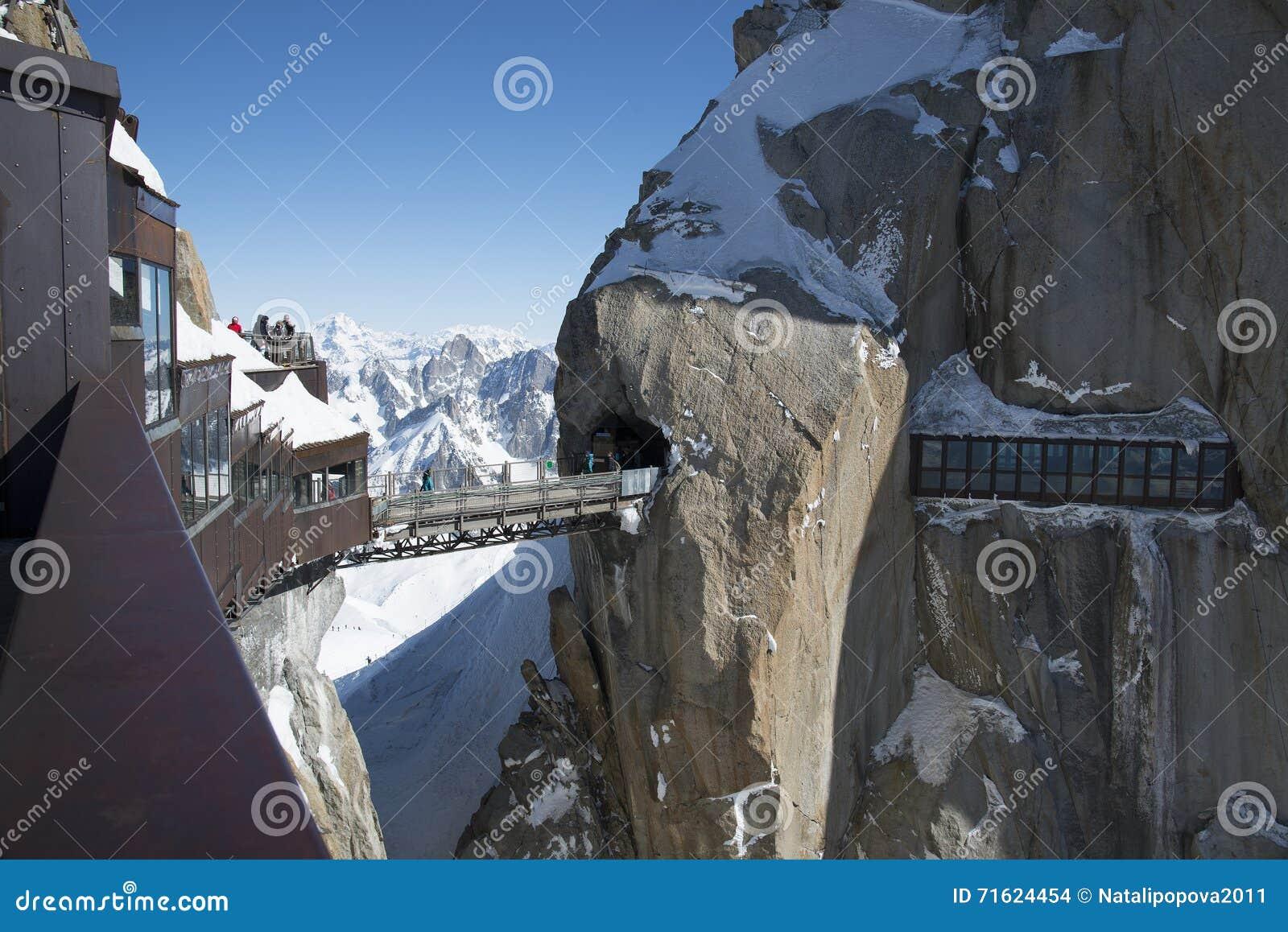 Szczytowy Aiguille du Midi, CHAMONIX, Francja Wysokość: 3842 metru