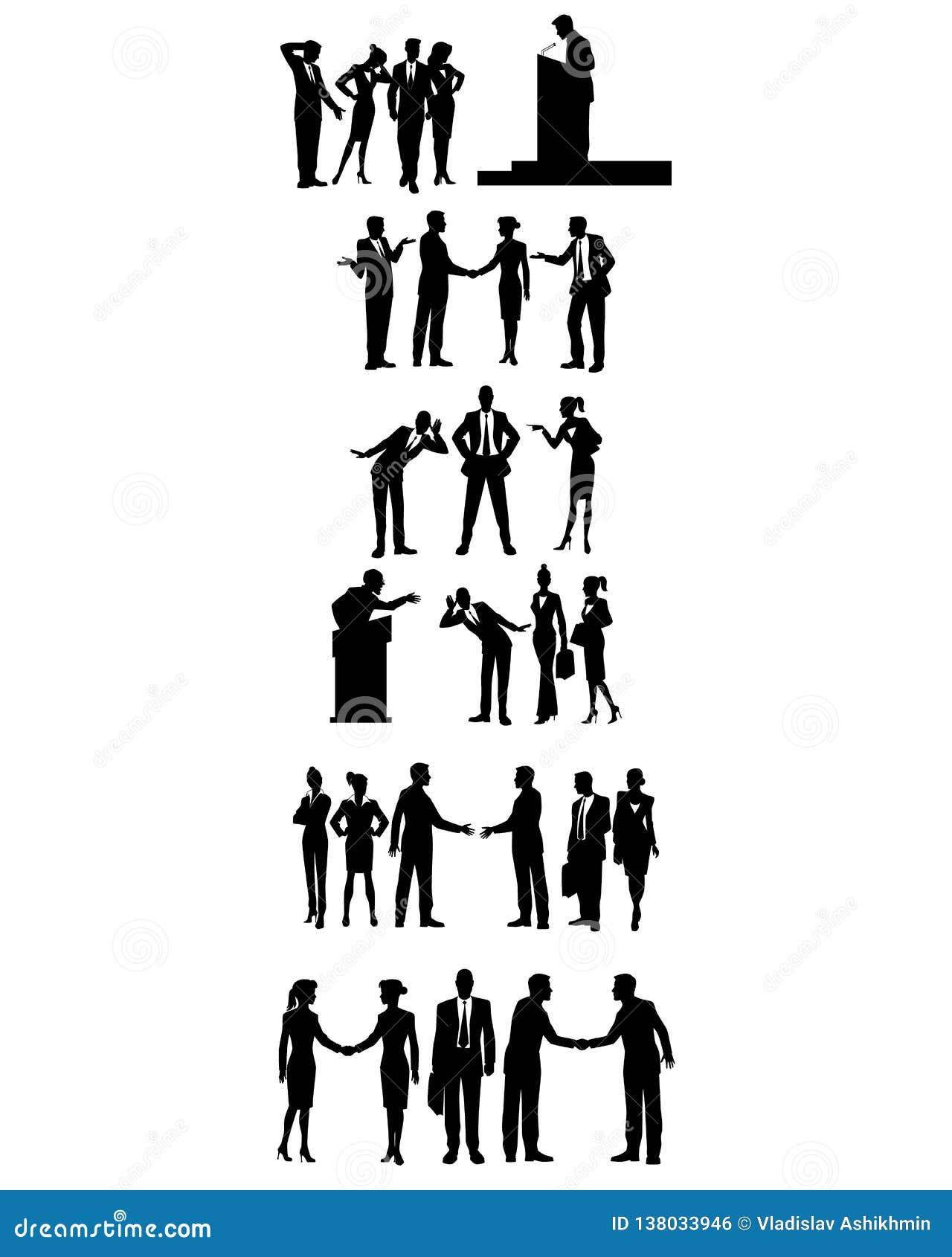 Sześć grup ludzie biznesu