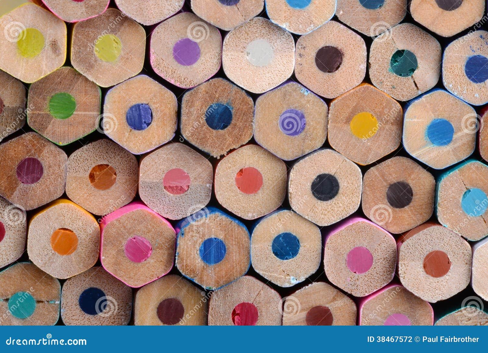 Sześciokąty barwiący ołówków dna