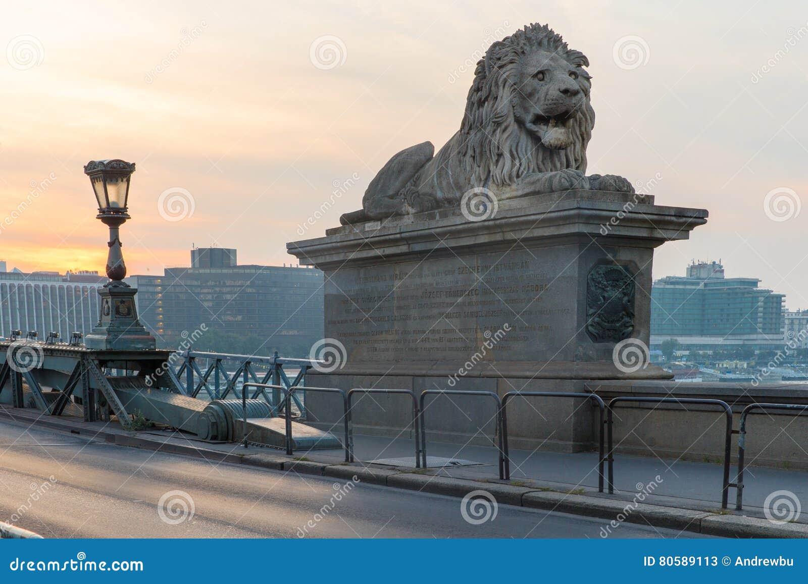 Szechenyi bro i den Budapest Ungern Härliga Danube River förtöjd sikt för nattportship