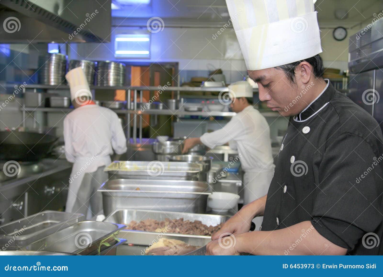 Szef kuchni gotowania