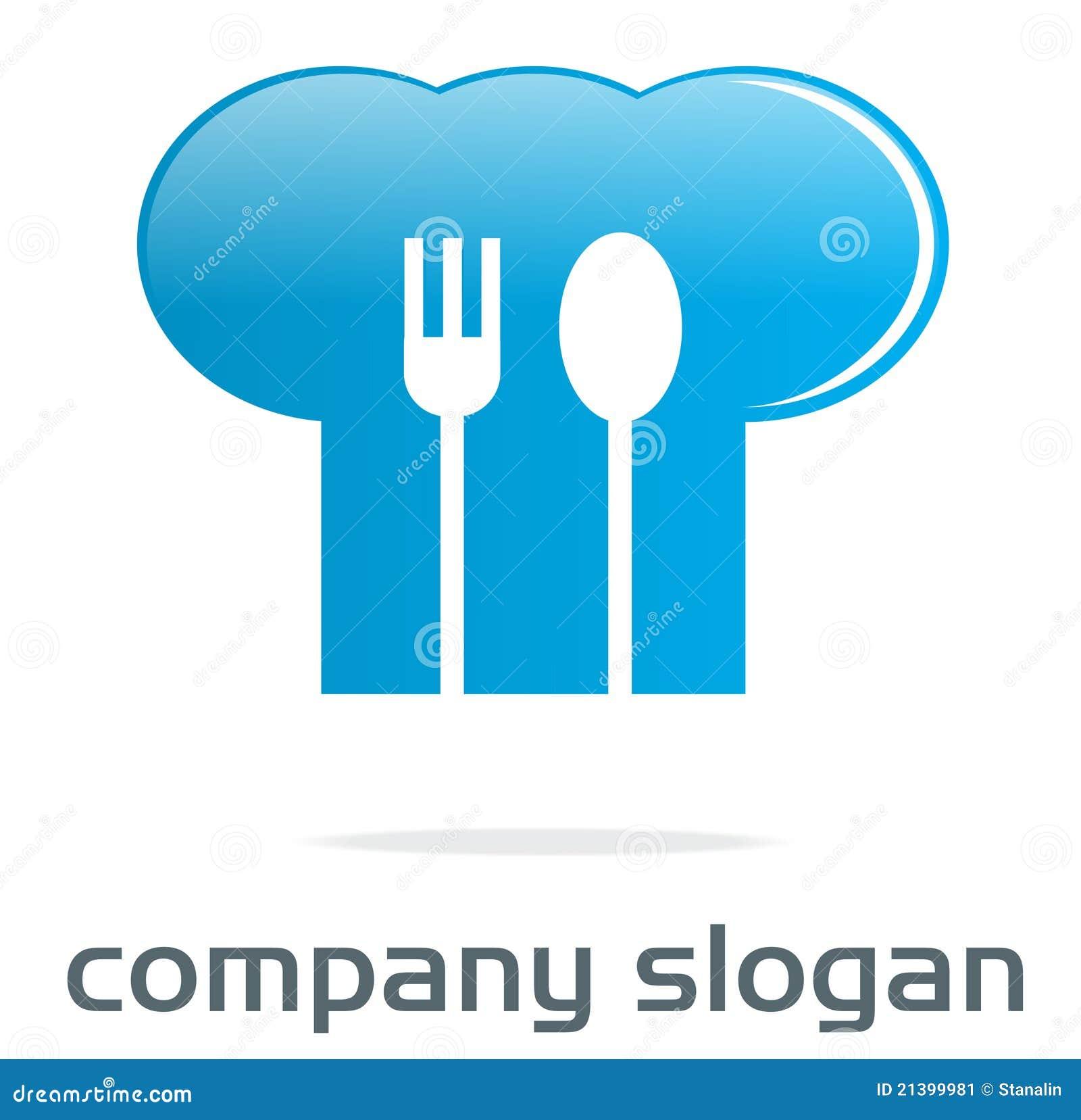 Szef kuchni kapeluszu logo