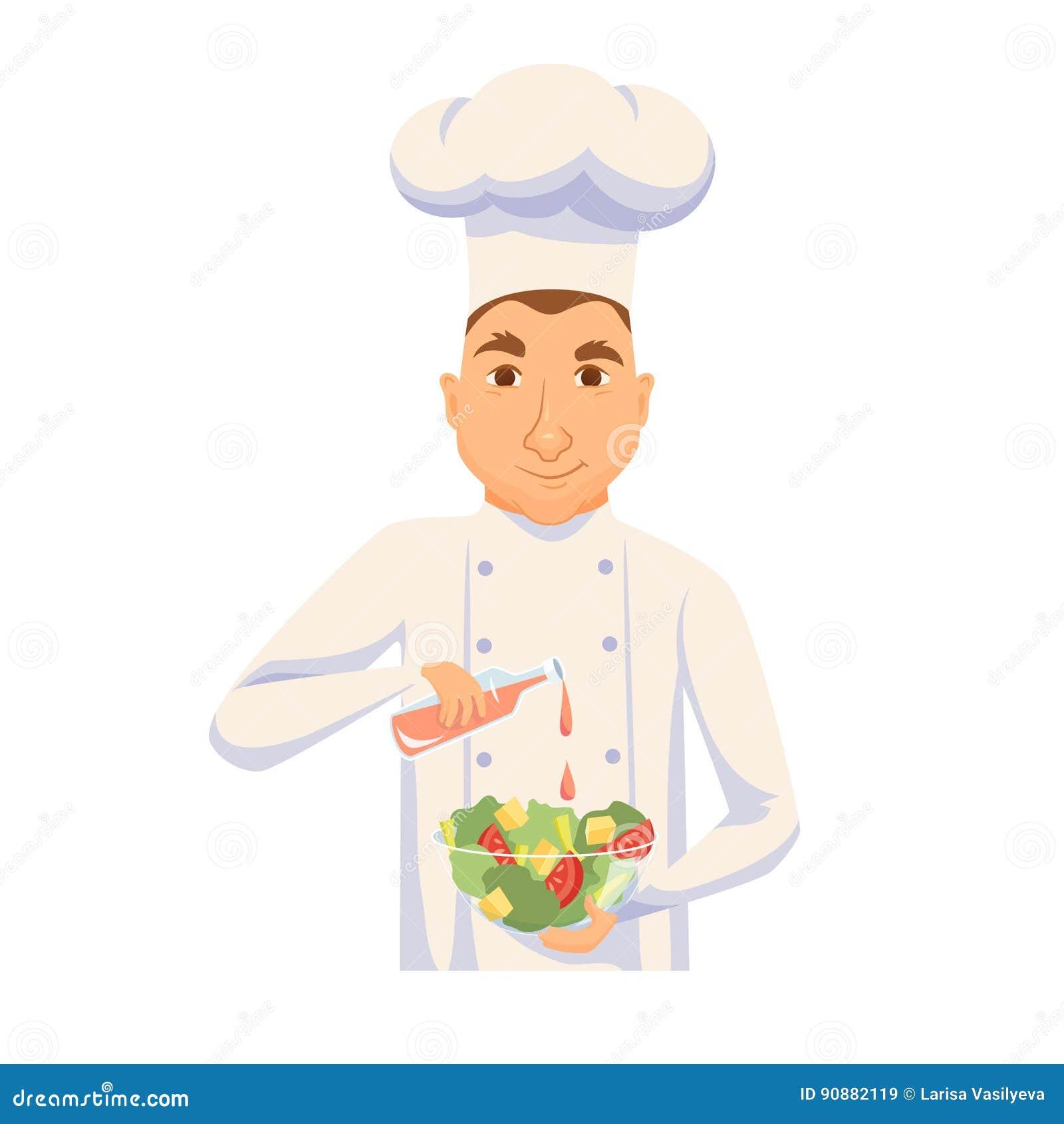 Szef kuchni kulinarna sałatka