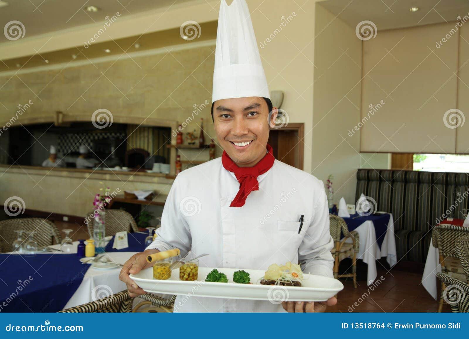 Szef kuchni restauraci pozycja