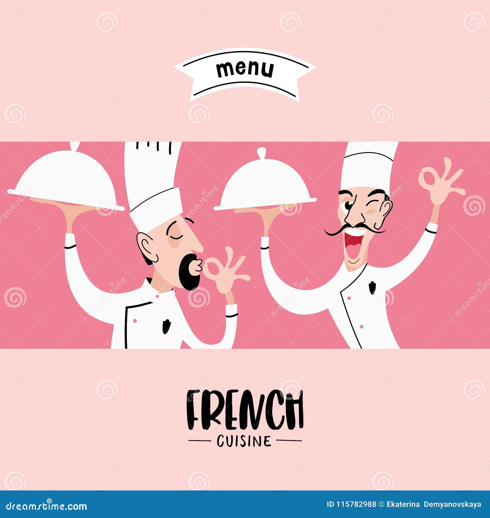 Szef kuchni z naczyniem w ręce również zwrócić corel ilustracji wektora