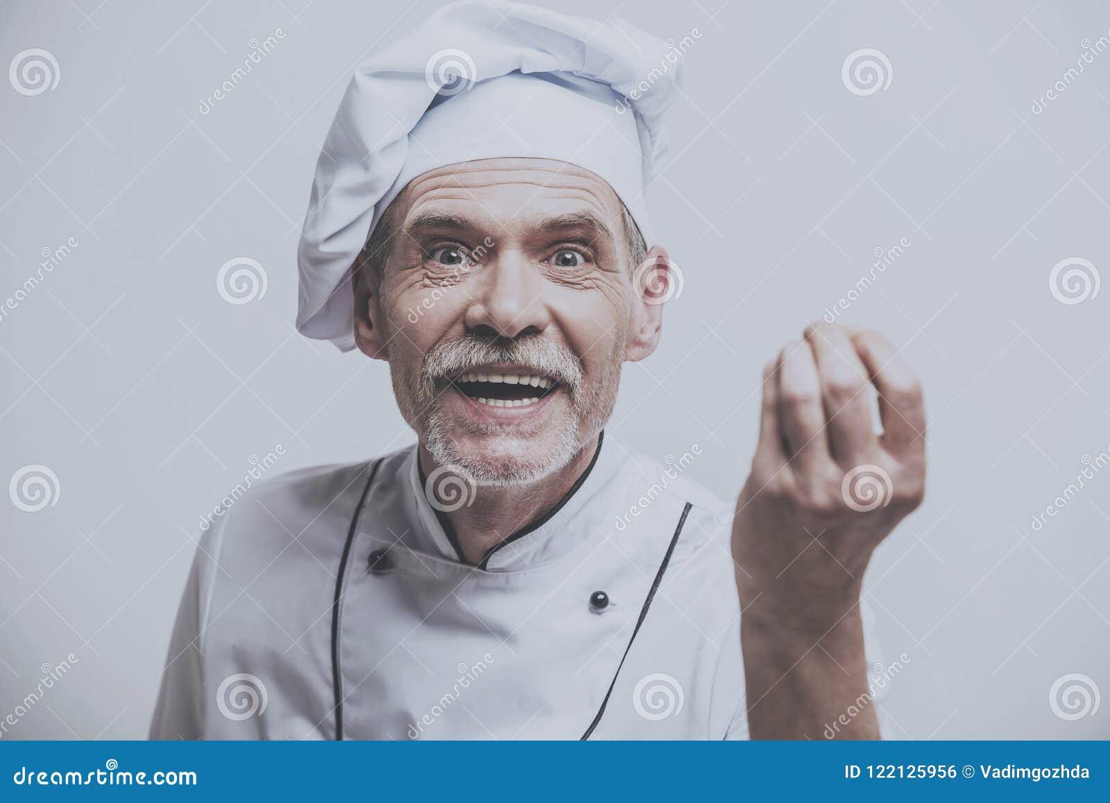 Szef kuchni Z ręką w przedpolu