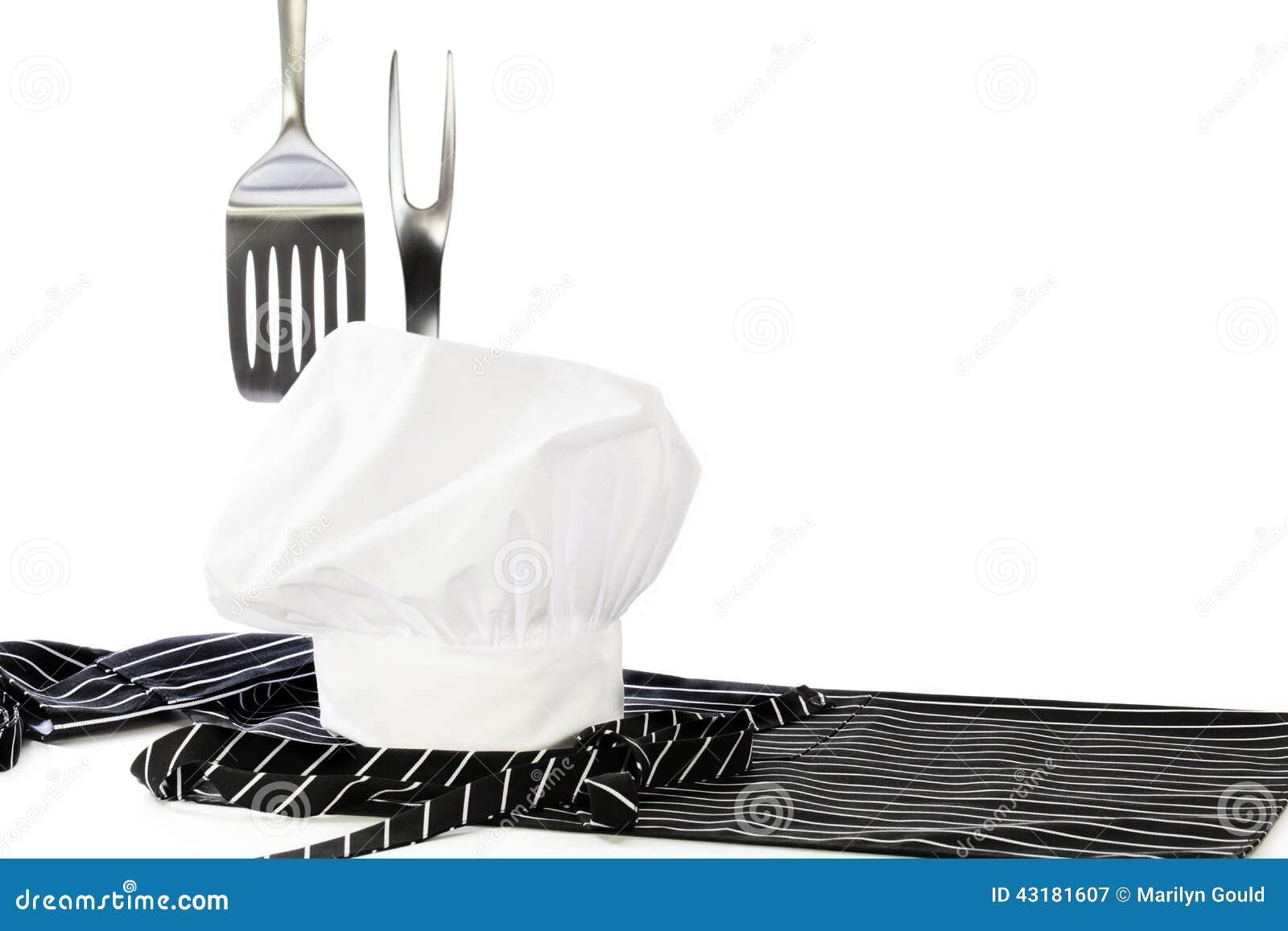 Szefa kuchni fartucha szpachelki Kapeluszowy rozwidlenie