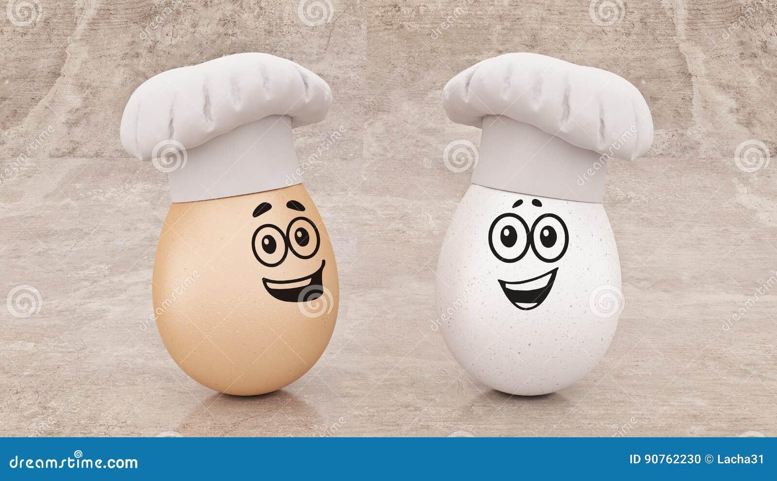 Szefa kuchni jajko pojęcie kucharz