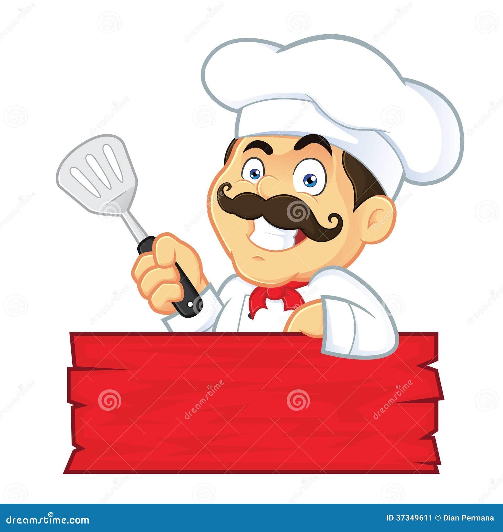 Szefa kuchni mienia szpachelka
