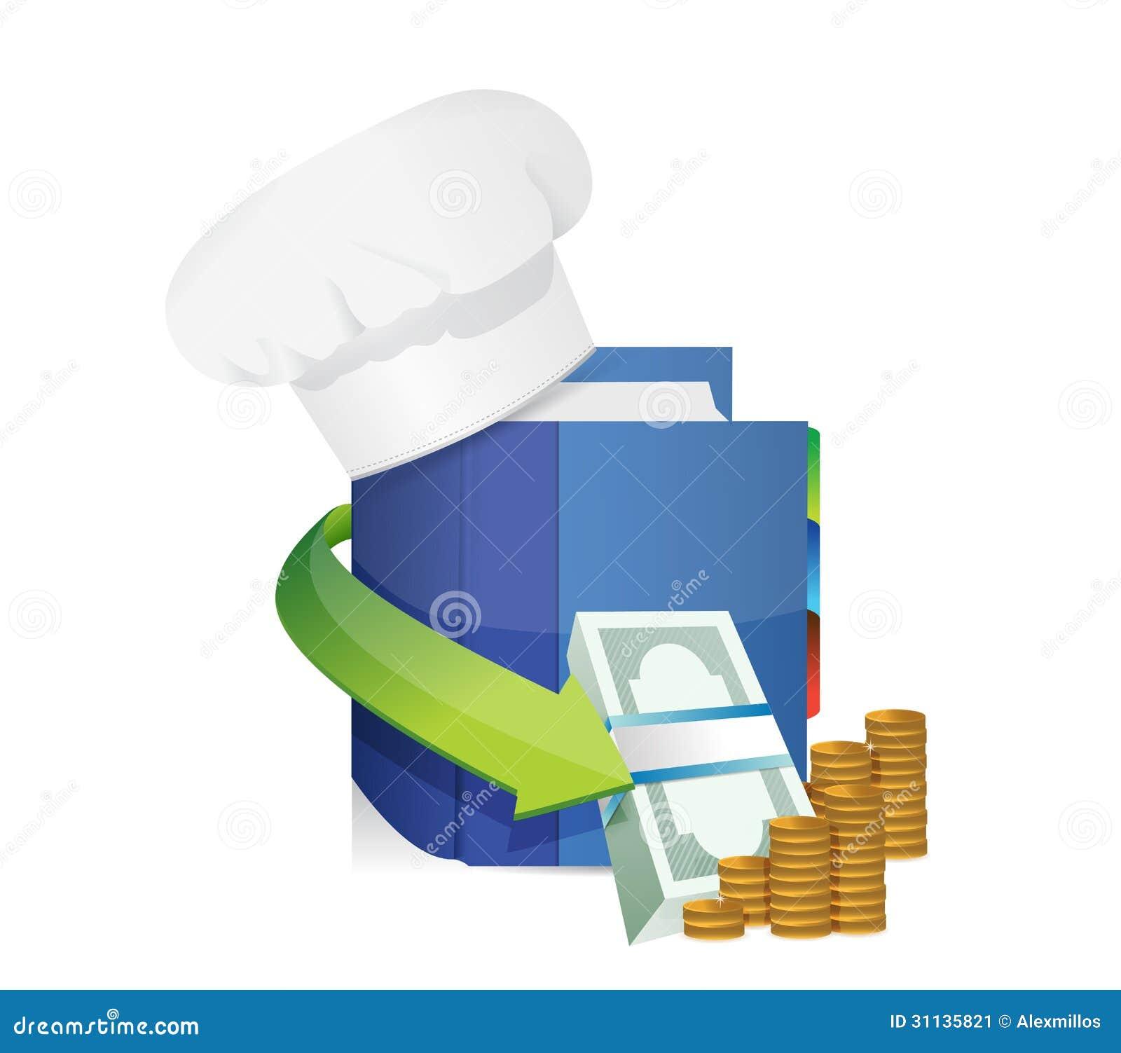 Szefowie kuchni kapelusze i kucharz książki zyski