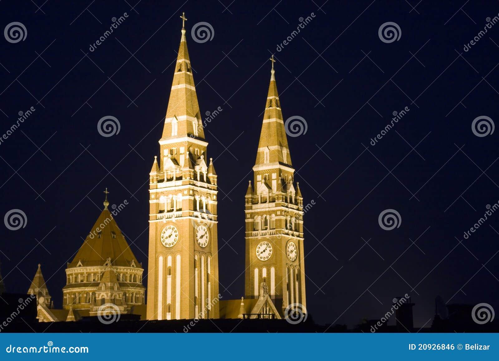 Szeged torn för domkyrka dom
