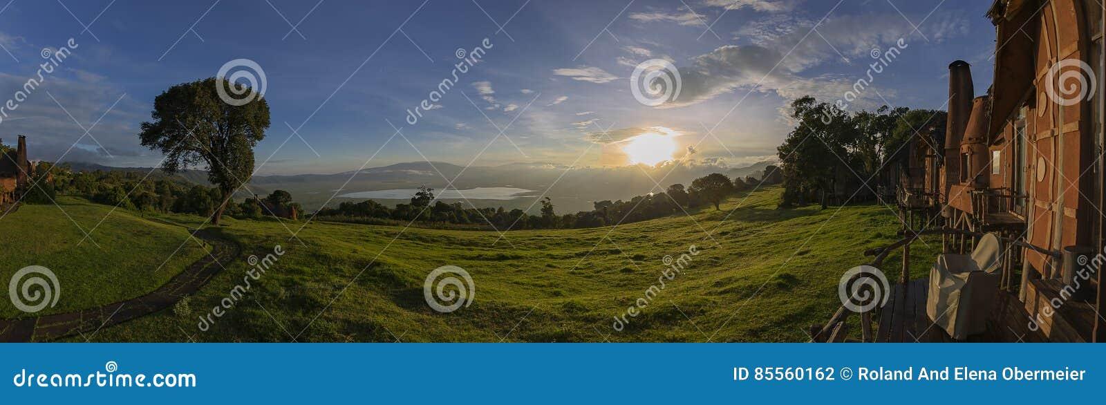 Szenische Ansicht in den Ngorongoro-Krater